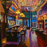 New Sheridan Bar Interior- Roger Mason Art